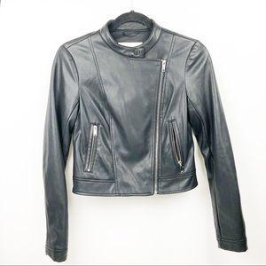 Bar III Vegan Black Motorcycle Jacket.
